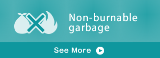 Non-burnable garbage